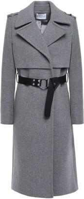Claudie Pierlot Belted Wool-blend Felt Coat
