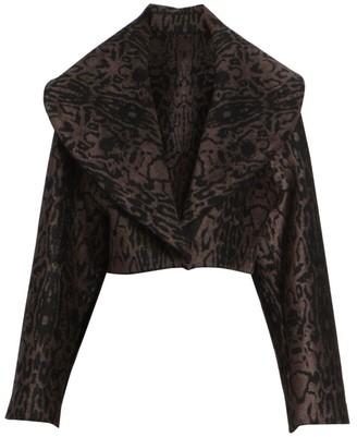 Alaia Animal-Print Crop Jacket