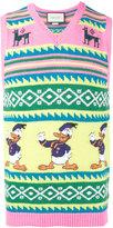 Gucci intarsia Donald Duck tank top