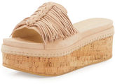 Stuart Weitzman Wiggleroom Fringe Platform Sandal
