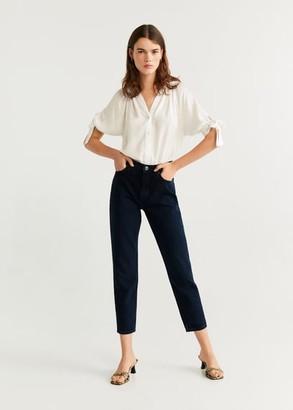 MANGO Short sleeved blouse white - 2 - Women