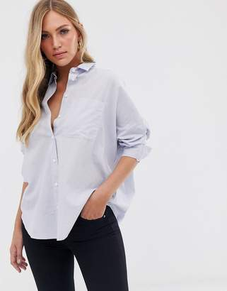 French Connection dotted stripe shirt-Blue