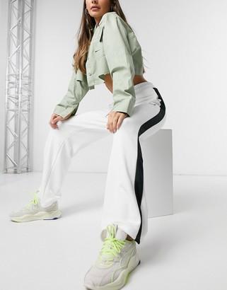 Puma T7 Classics wide leg pants in white