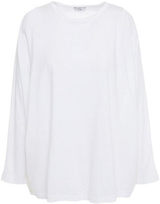 Clu Paneled Cotton-jersey And Cotton And Silk-blend Voile Top