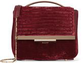 Eddie Borgo Colt Velvet Shoulder Bag - Claret