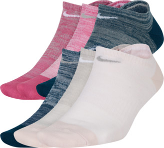Nike Women's Everyday 6-Pack Lightweight No-Show Training Socks