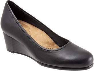 Trotters Leather Wedge Slip-Ons - Winnie