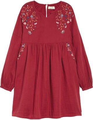 Peek Aren't You Curious Embroidered Long Sleeve Dress