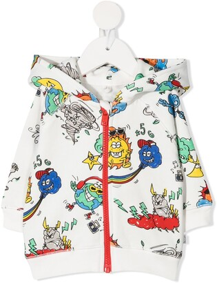 Stella McCartney Kids Graphic-Print Long-Sleeve Hoodie