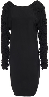 By Malene Birger Ruched Crepe De Chine Mini Dress