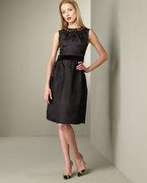 Dolce & Gabbana Jeweled Neck Dress