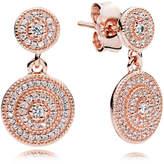 Pandora Radiant Elegance Drop Earrings - Cubic Zirconia / Rose