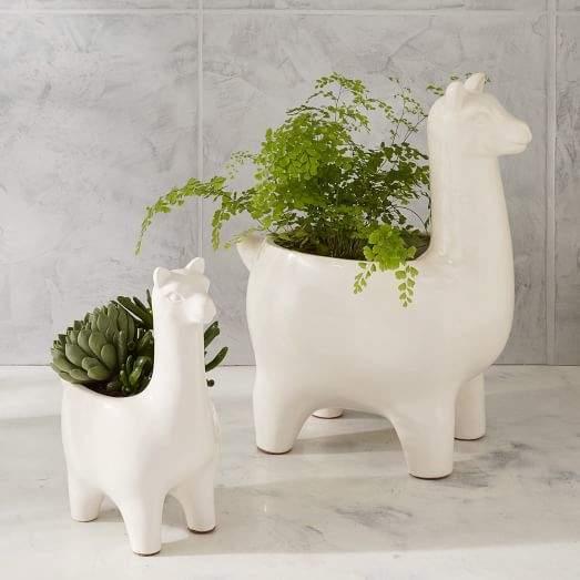 Ceramic Llama Planters