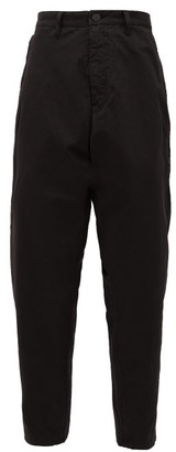 Stone Island Shadow Project - Enzyme-treated Stretch-cotton Trousers - Mens - Black