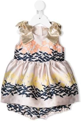 Hucklebones London Floral Embroidered Dress Set