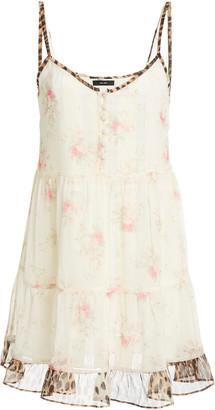 R 13 Printed Silk Slip Dress