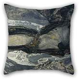 SkuGo pillowcover of oil painting Mikhail Vrubel - Flying Demon 18 x 18 inches / 45 by 45 cm,best fit for husband,birthday,teens girls,lover,boys,girls twin sides