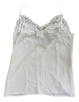 LES COYOTES DE PARIS Ecru Silk Top for Women