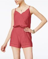 Be Bop Juniors' Crochet-Trim Spaghetti-Strap Romper