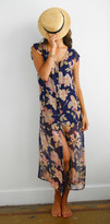 Merritt Charles Theodore Dress - Navy Floral Long Dress