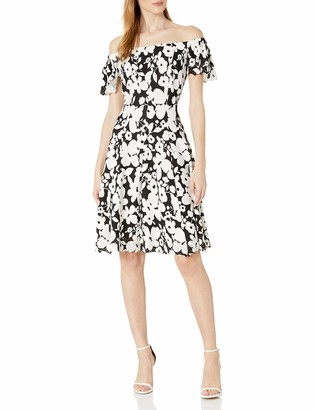 Robbie Bee Women's Cap Sleeve fit and Flare Dress