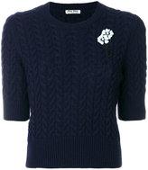 Miu Miu embellished half sleeve sweater