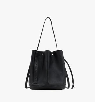 MCM Milano Drawstring Bag in Goatskin Leather