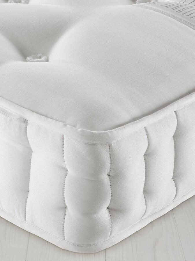 John Lewis & Partners Natural Collection Swaledale Wool 11400, Super King Size, Firm Tension Pocket Spring Zip Link Mattress