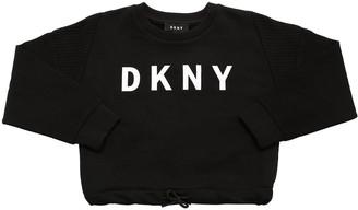 DKNY Logo Print Cotton Sweatshirt