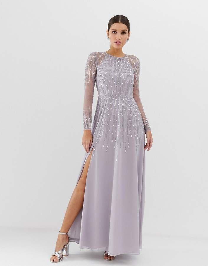 maxi cocktail dresses with sleeves