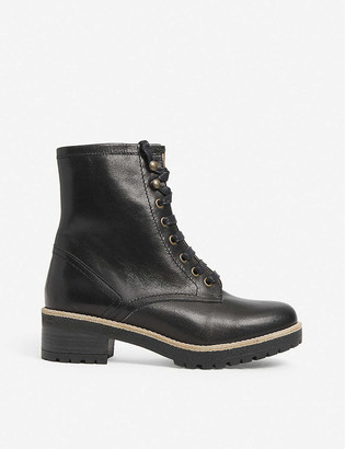 Sessun Ranger lace-up leather ankle boots