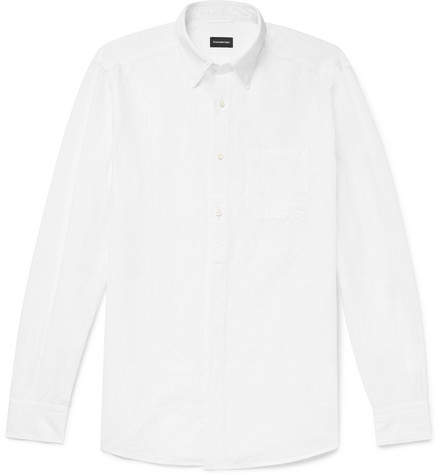Ermenegildo Zegna Striped Cotton And Linen-Blend Shirt