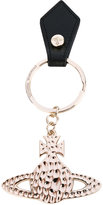 Vivienne Westwood logo embossed keyring - unisex - Leather/metal - One Size