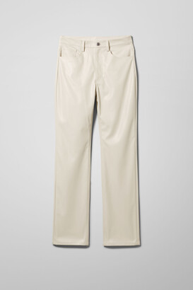 Weekday Voyage PU Trousers - Brown