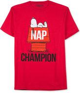 JEM Men's Peanuts Nap Champions T-Shirt