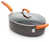 Rachael Ray Hard-Anodized II Nonstick 5-Qt. Covered Oval Sauté Pan