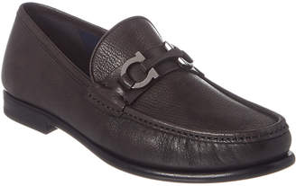 Salvatore Ferragamo Crown Gancini Bit Leather Loafer