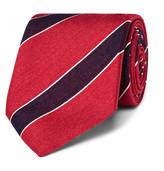 Charvet 7.5cm Striped Silk and Linen-Blend Tie