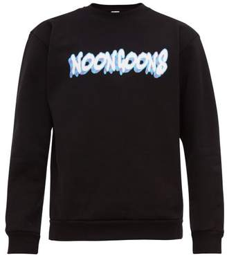 Noon Goons Logo Print Cotton Jersey Sweatshirt - Mens - Black