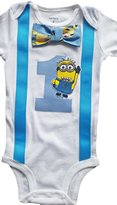 Perfect Pairz Baby Boys 1st Birthday Outfit - Minions Bodysuit