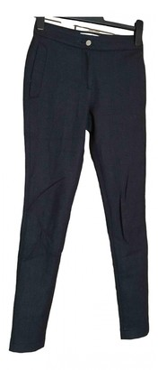 Christian Dior Anthracite Wool Trousers