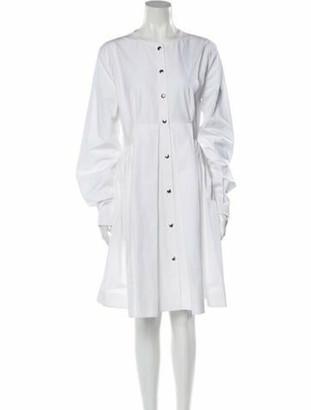 Calvin Klein Crew Neck Knee-Length Dress w/ Tags White Crew Neck Knee-Length Dress w/ Tags