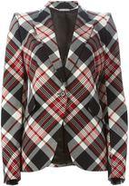 Alexander McQueen tartan blazer