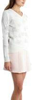 3.1 Phillip Lim Floral Jacquard V Neck Pullover
