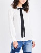 Mo&Co. Bow-detail silk shirt