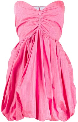 MSGM strapless balloon mini dress