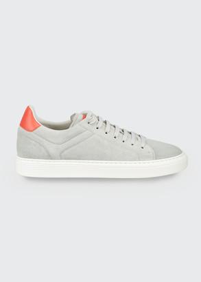 Brunello Cucinelli Men's Airsole Suede Sneakers