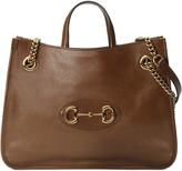 Gucci Medium 1955 Horsebit Convertible Leather Tote