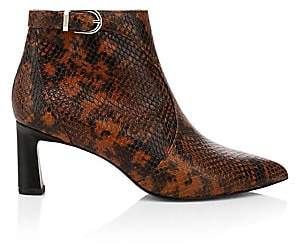 Joie Women's Rawly Snakeskin-Embossed Ankle Boots