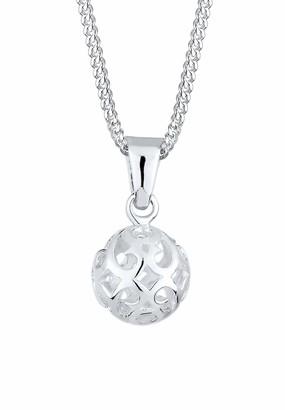 Elli Women Silver Pendant Necklace of Length 45cm 0110412913_45